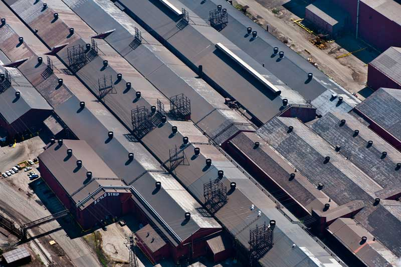 Roller Mill Roofs - Gary, Indiana USA  260-3641